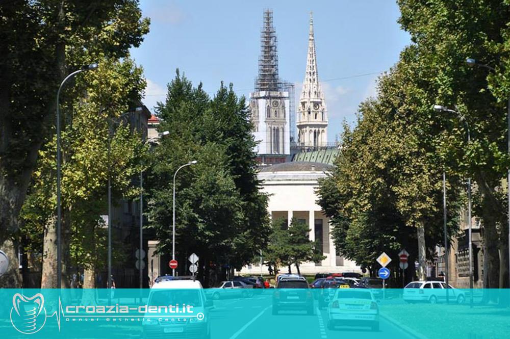 Posizione dell'alloggio nel centro di Zagabria